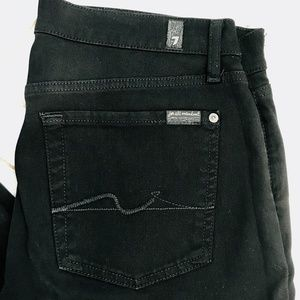7FAM {31} Black Skinny Jeans 7 For All Mankind